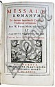 CATHOLIC LITURGY.  Missale Romanum.  1682