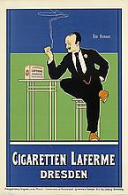 FRITZ REHM (1871-1928). CIGARETTEN LAFERME / DRESDEN. 1896. 34x22 inches, 87x57 cm. Grimme & Hempel, Leipzig.