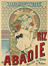 H. GRAY (HENRI BOULANGER, 1858-1924). RIZ ABADIE. 1898. 55x39 inches, 139x99 cm. Courmont Freres, Paris.
