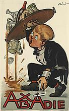 MIHALY BIRO (1886-1948). ABADIE. 1924. 33x20 inches, 83x52 cm.