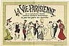 LUCIEN METIVET (1863-1932). LA VIE PARISIENNE. Circa 1912. 63x 93 inches, 160x237 cm. P. Vercasson, Paris.