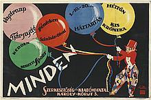 SANTHO (DATES UNKNOWN). MINDEN. 25x37 inches, 63x94 cm. Seidner, Budapest.