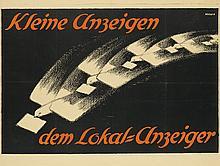 FRIEDRICH AHLERS-HESTER (1883-1973). KLEINE ANZEIGEN / DEM LOKAL - ANZEIGER. Circa 1920. 28x37 inches, 71x94 cm. Vereinigte Kunstinstit