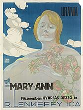 BEDNAR (DATES UNKNOWN). MARY - ANN / URANIA. Circa 1920. 49x37 inches, 125x94 cm. Seidner, Budapest.