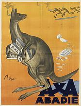 MIHALY BIRO (1886-1948). AXA / ABADIE. 1924. 49x37 inches, 125x95 cm.
