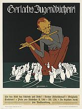 ALBERT WEISGERBER (1878-1915). GERLACHS JUGENBUCHEREI. 1902. 24x18 inches, 61x46 cm. Christoph Reisser's Sons, Vienna.