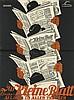 VICTOR THEODOR SLAMA (1890-1973). DAS KLEINE BLATT. 1927. 49x36 inches, 125x93 cm. Papier u. Blechdruck Industrie, Vienna.