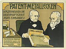 EMIL RANZENHOFER (1864-1930). PATENT - METALLECKEN. Circa 1905. 33x45 inches, 85x115 cm.