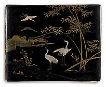 (JAPAN) A splendid album containing 50 delicately hand-colored images of Japan, including parks, tea houses, snow-covered trees,