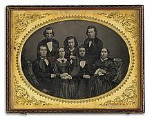 (CASED IMAGES) cary Pair of whole-plate daguerreotypes of families, comprising an aesthetic portait by Cary