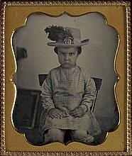 (CASED IMAGES) Group of 33 daguerreotypes of of children alone and with their moms, with chubby toddlers,