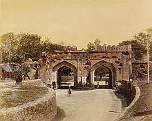 (INDIA) Album contianing 38 hand-colored photographs of India.
