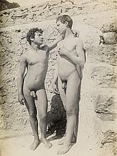 VON GLOEDEN, WILHELM (1856-1931) Group of 3 en plein air studies of nude Sicilian youths.