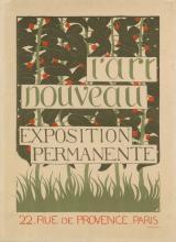 FÉLIX VALLOTTON (1865-1925). L'ART NOUVEAU EXPOSITION PERMANENTE. Circa 1896. 23x17 inches, 59x43 cm. Lemercier, Paris.