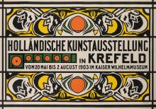 JAN THORN PRIKKER (1868-1932). HOLLÄNDISCHE KUNSTAUSSTELLUNG IN KREFELD. 1903. 33x47 inches, 85x121 cm. S. Lankhout & Co., The Hague.
