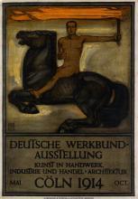PETER BEHRENS (1868-1940). DEUTSCHE WERKBUND - AUSSTELLLUNG. 1914. 35x24 inches, 89x62 cm. A. Molling & Comp., Hannover.