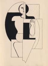 WILLI BAUMEISTER (1889-1955). [KOMPOSITION - APOLL (I).] Lithograph. Circa 1921. 16x12 inches, 40x30 cm. [G. Kiepenheurer, Weimar.]