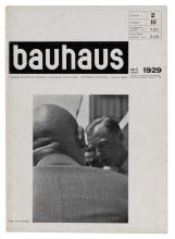 VARIOUS ARTISTS. BAUHAUS. Group of 7 magazines. 1928-29. Each approximately 11x8 inches, 29x21 cm.