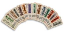 HERBERT BAYER (1900-1985). [GERMAN MARKS.] Group of 14 bank notes. 1923. Each 2x5 inches, 7x14 cm.
