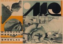 JOHANNES MOLZAHN (1892-1965). WOHNUNG UND WERKRAUM. 1929. 23x33 inches, 59x83 cm. Friedrichdruck, Breslau.