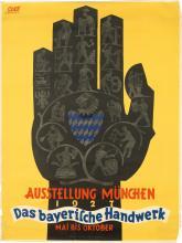 FRANZ PAUL GLASS (1886-1964). AUSSTELLUNG MÜNCHEN / DAS BAYERISCHE HANDWERK. 1927. 48x36 inches, 122x97 cm. Gebr. Obpacher A.G., Munich