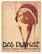 VARIOUS ARTISTS. DAS PLAKAT. Group of approximately 10 magazines. 1913-1925. 11x9 inches, 28x23 cm.