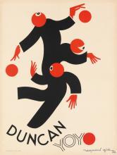 RAYMOND GID (1905-2000). DUNCAN YOYO. 1930. 31x23 inches, 79x60 cm. Bedos & Cie, Paris.