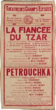 DESIGNER UNKNOWN. LA FIANCÉE DU TZAR. 1930. 31x16 inches, 80x40 cm. Marcel Picard, Paris.