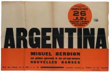 DESIGNER UNKNOWN. ARGENTINA / MIGUEL BERDION. 1931. 30x47 inches, 76x119 cm.