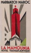 ERIK NITSCHE (1908-1998). [LUGGAGE LABELS.] Group of 12 labels. Circa 1929. Sizes vary.
