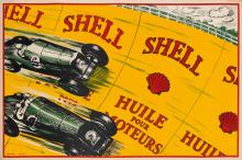 LUNNON (DATES UNKNOWN). SHELL / HUILE POUR MOTEURS. 1925. 30x44 inches, 76x113 cm.