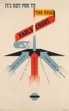 EDWARD MCKNIGHT KAUFFER (1890-1954). IT'S NOT FAR TO THE NEW EARL'S COURT. 1937. 39x24 inches, 100x63 cm. The Baynard Press, [London.