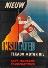 ND (MONOGRAM UNKNOWN). TEXACO MOTOR OIL. Group of 3 posters. Circa 1947. Each 52x37 inches, 134x95 cm.