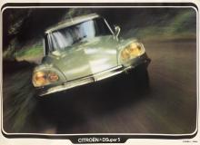 DESIGNER UNKNOWN. CITROËN D SUPER 5. Circa 1970. 33x50 inches, 85x127 cm.