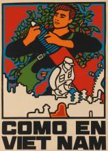 RENÉ MEDEROS (1933-1996). COMO EN VIET NAM. Circa 1970. 27x19 inches, 68x49 cm.