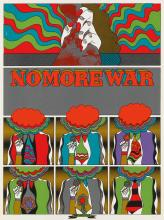 KEIICHE TANAAMI (1936- ). NO MORE WAR. 1967. 24x18 inches, 63x47 cm.