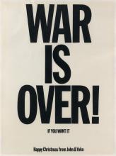 JOHN LENNON (1940-1980) & YOKO ONO (1933- ). WAR IS OVER! / IF YOU WANT IT. 1969. 25x19 inches, 63x48 cm.