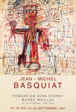 JEAN-MICHEL BASQUIAT (1960-1988). JEAN - MICHEL BASQUIAT / MUSÉE MAILLOL. 1997. 67x46 inches, 171x116 cm. A. Karcher, Paris.