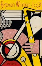 ROY LICHTENSTEIN (1923-1997). ASPEN WINTER JAZZ. 1967. 40x26 inches, 101x66 cm.