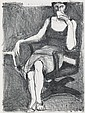RICHARD DIEBENKORN Seated Woman Drinking From a Cup.