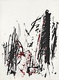 JOAN MITCHELL Arbres (Black and Red).