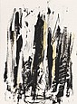 JOAN MITCHELL Arbres (Black and Yellow).