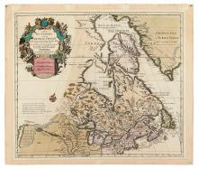 COVENS, JOHANNES; and MORTIER, CORNELIS. Carte du Canada ou de la Nouvelle France.