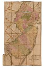 (NEW JERSEY.) Gordon, Thomas. Map of the State of New Jersey, With Parts of Adjoining States.