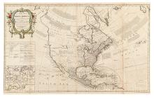 SAYER, ROBERT. A New Map of North America, with the British, French, Spanish, Dutch & Danish Dominions.