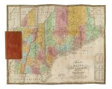 MITCHELL, SAMUEL AUGUSTUS. Map of Maine New Hampshire and Vermont Compiled from the Latest Authorities.