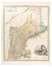 TANNER, HENRY SCHENK. Map of the States of Maine New Hampshire Vermont Massachusetts Connecticut & Rhode Island.