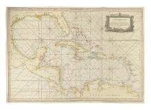 LAURIE, ROBERT; and WHITTLE, JAMES. A New General Chart of the West Indies. From the latest Marine Journals and Surveys,