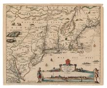VISSCHER, NICOLAS. Novi Belgii Novaeque Angliae nec non partis Virginiae Tabula.