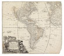 HOMANN HEIRS. Americae Mappa generalis.